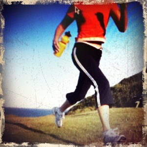 A running ladys legs