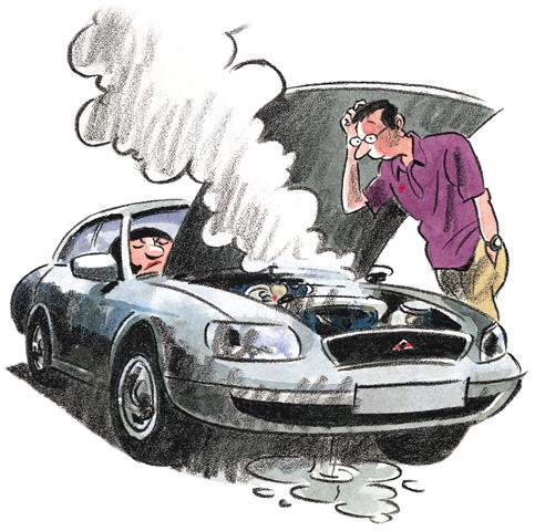 Ups, bilproblemer