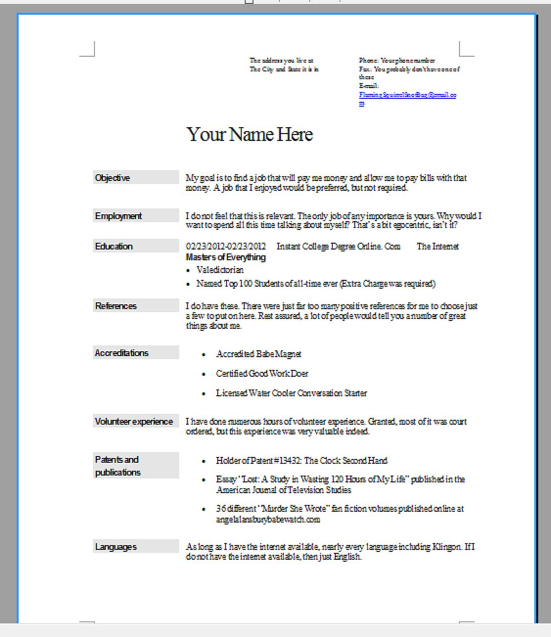 I Need A Resume For A Job,What You Need For A Resume Free Resume ...
